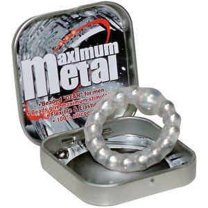 Maximum Metal Silicone Beaded Cock Ring